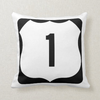 US Route 1 Sign Pillow
