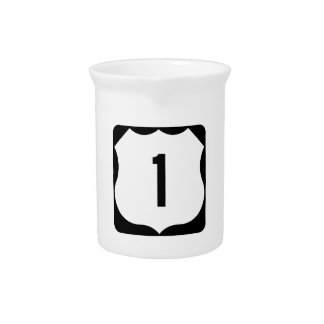 US Route 1 Sign Drink Pitcher