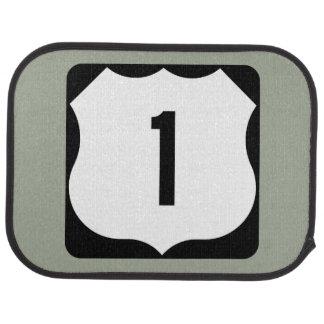 US Route 1 Sign Floor Mat