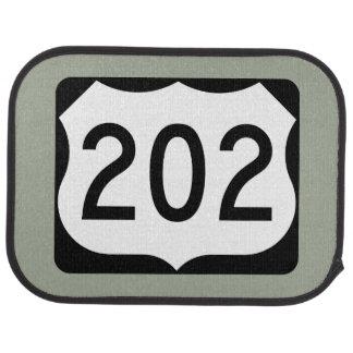 US Route 202 Sign Car Mat