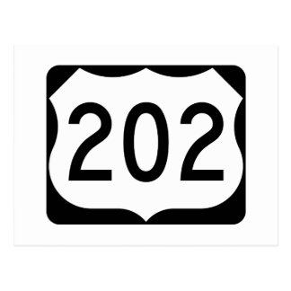 US Route 202 Sign Postcard