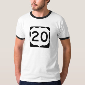 US Route 20 Sign T-Shirt