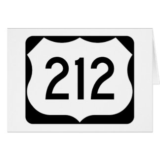 US Route 212 Sign Card