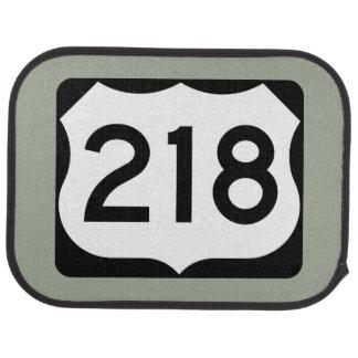 US Route 218 Sign Car Mat