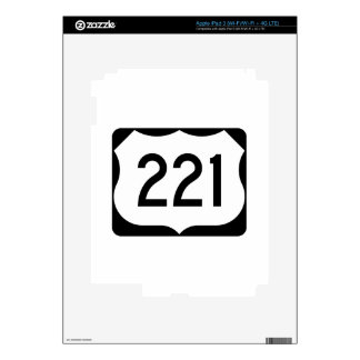 US Route 221 Sign Skin For iPad 3