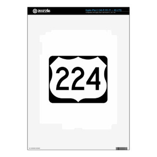 US Route 224 Sign Skin For iPad 3