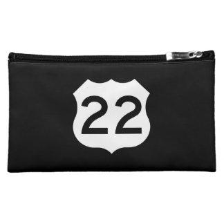 US Route 22 Sign Makeup Bag