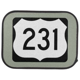 US Route 231 Sign Car Mat