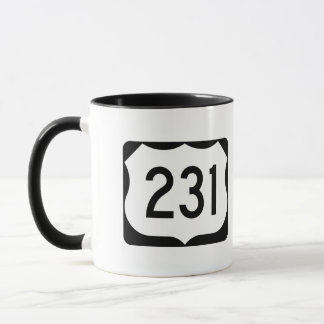 US Route 231 Sign Mug