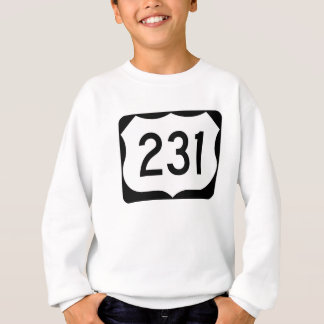 US Route 231 Sign Sweatshirt