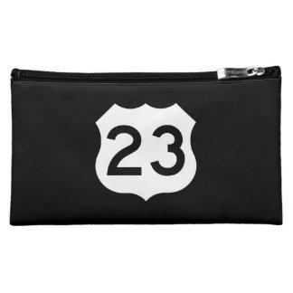 US Route 23 Sign Makeup Bag