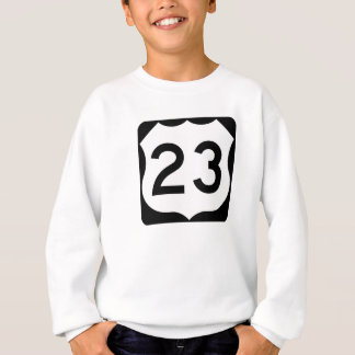 US Route 23 Sign Sweatshirt