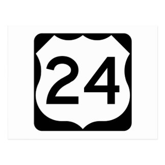 US Route 24 Sign Postcard