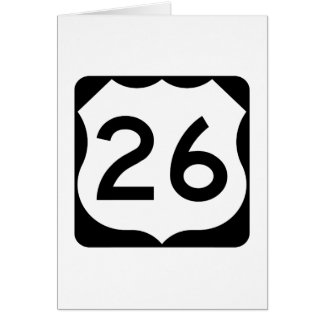 US Route 26 Sign Card