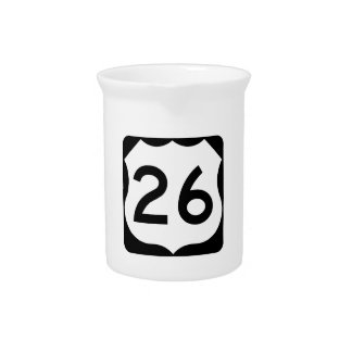 US Route 26 Sign Drink Pitcher
