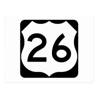 US Route 26 Sign Postcard