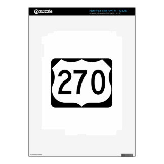 US Route 270 Sign Skins For iPad 3