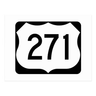US Route 271 Sign Postcard