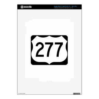 US Route 277 Sign Skins For iPad 3