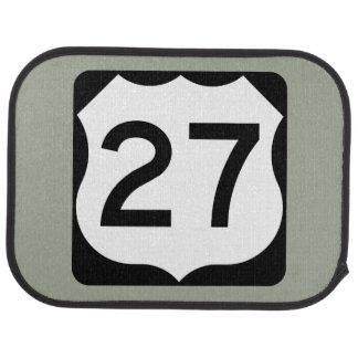 US Route 27 Sign Car Floor Mat