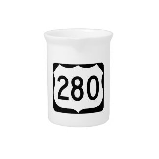 US Route 280 Sign Drink Pitchers