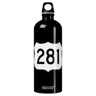 US Route 281 Sign Aluminum Water Bottle
