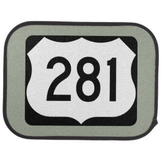 US Route 281 Sign Car Floor Mat