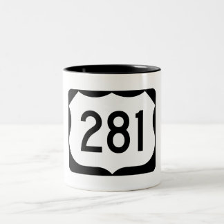 US Route 281 Sign Two-Tone Coffee Mug