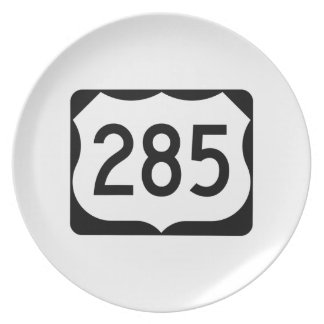 US Route 285 Sign Dinner Plate