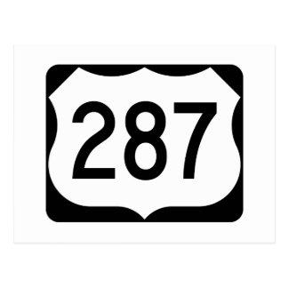 US Route 287 Sign Postcard