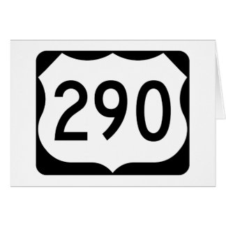 US Route 290 Sign Card