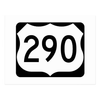 US Route 290 Sign Postcard