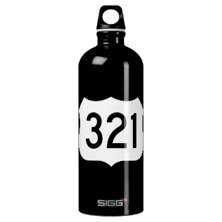US Route 321 Sign Aluminum Water Bottle