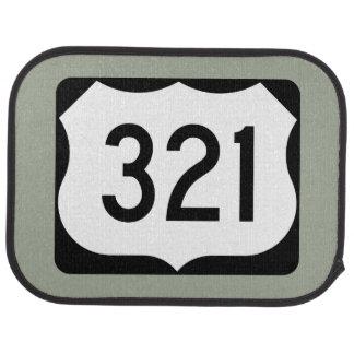 US Route 321 Sign Car Mat