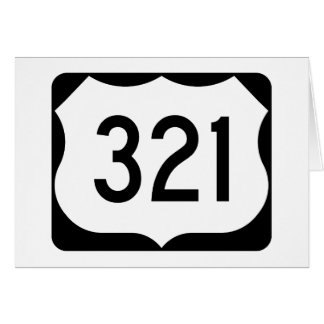 US Route 321 Sign Card