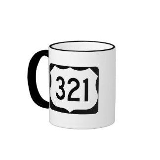 US Route 321 Sign Ringer Mug