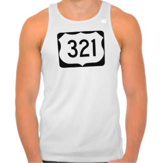 US Route 321 Sign New Balance Running Tank Top