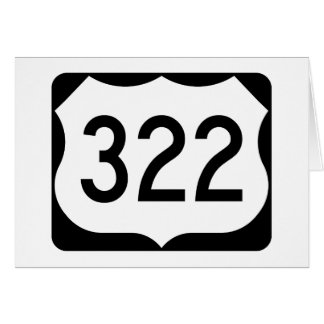 US Route 322 Sign Card
