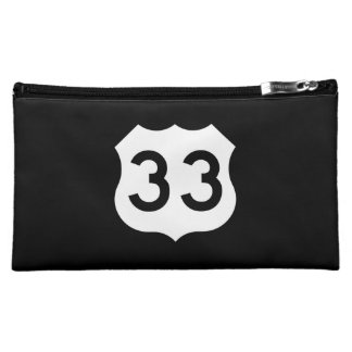 US Route 33 Sign Cosmetic Bag