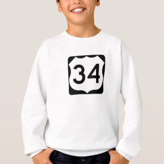 US Route 34 Sign Sweatshirt