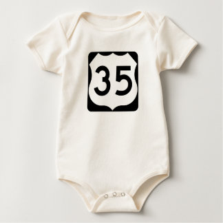 US Route 35 Sign Baby Bodysuit