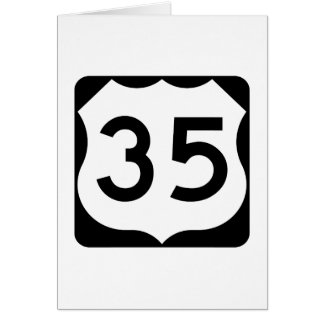 US Route 35 Sign Card