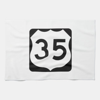US Route 35 Sign Kitchen Towel