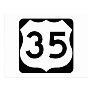 US Route 35 Sign Postcard