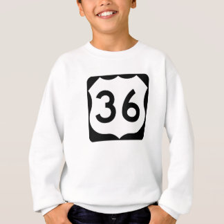 US Route 36 Sign Sweatshirt