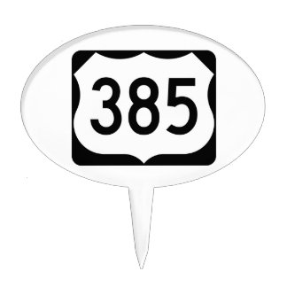 US Route 385 Sign Cake Topper