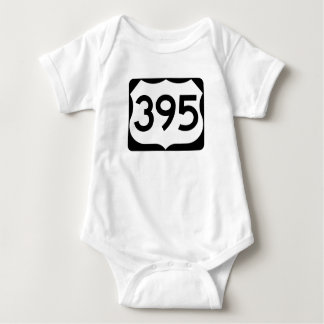 US Route 395 Sign Baby Bodysuit