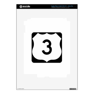 US Route 3 Sign iPad 3 Skins