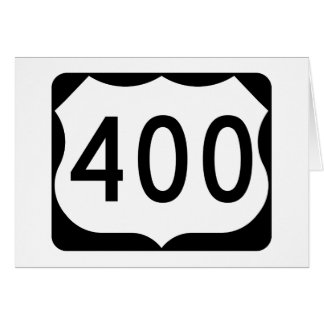 US Route 400 Sign Card