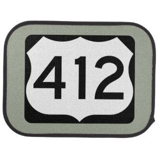 US Route 412 Sign Car Mat